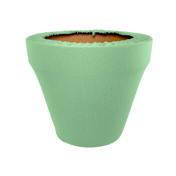 Celadon Flower Pot Sleeve 10 in, terra cotta, clay pot cover