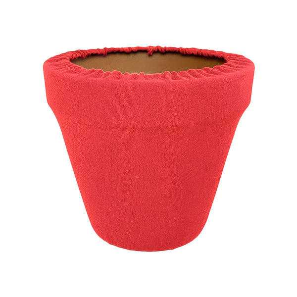 Coral Flower Pot Sleeve 10 in, terra cotta, clay pot cover