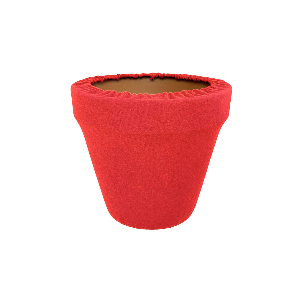 Coral Flower Pot Sleeve 6 in, terra cotta, clay pot cover