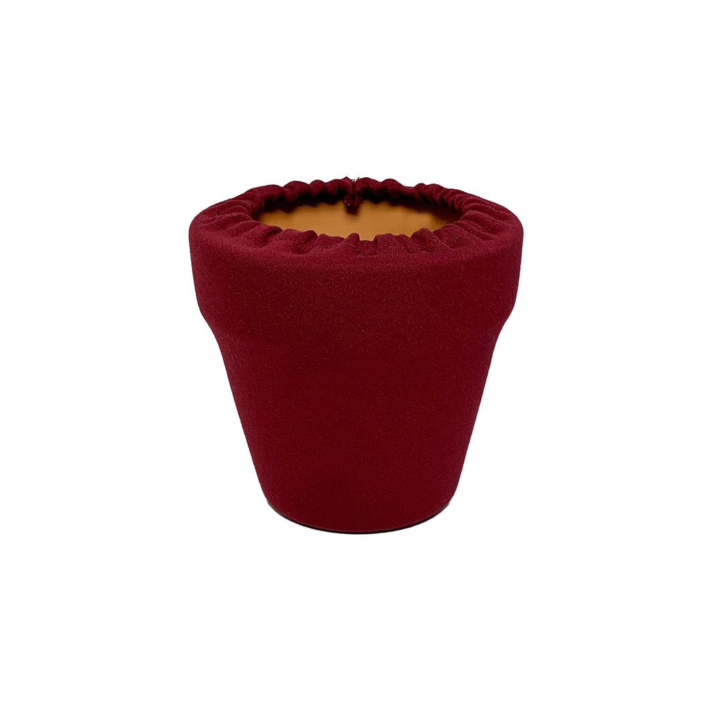 Haute Red Flower Pot Sleeve 4 in, terra cotta, clay pot cover