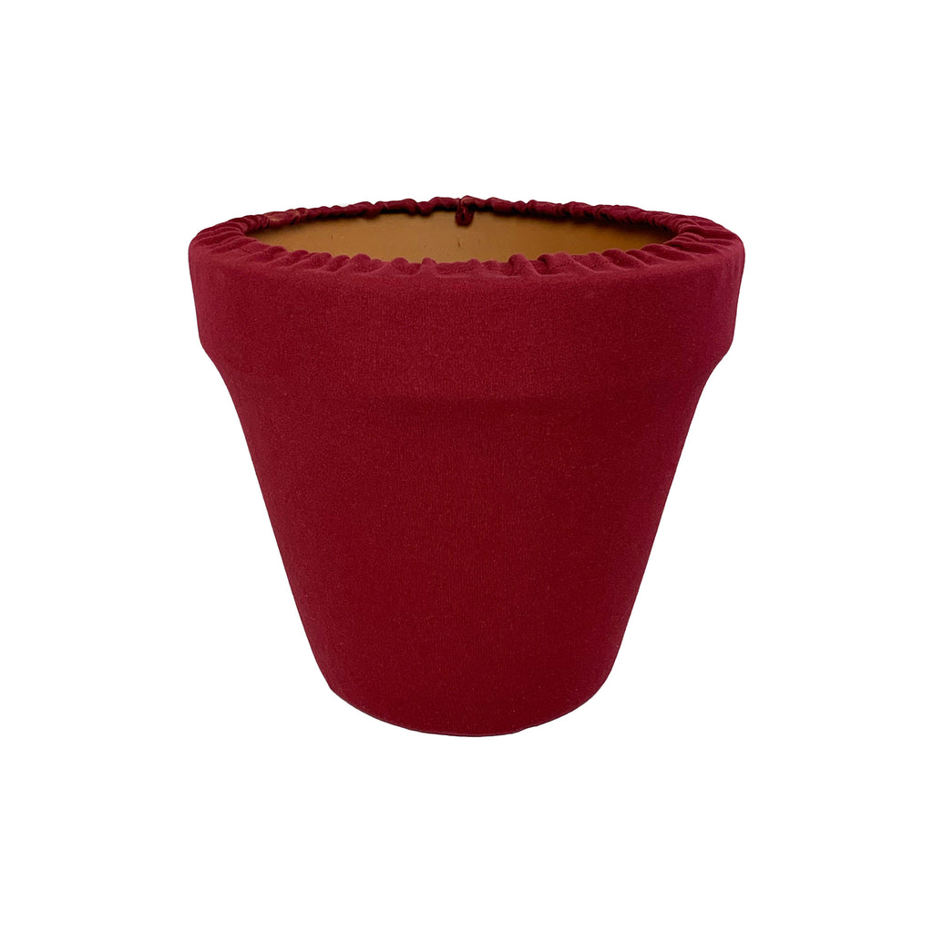 Haute Red Flower Pot Sleeve 6 in, terra cotta, clay pot cover