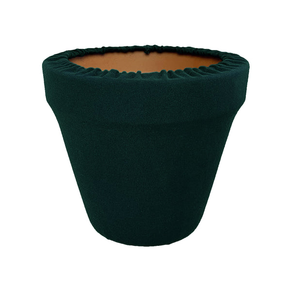 Hunter Green Flower Pot Sleeve 10 in, terra cotta, clay pot cover