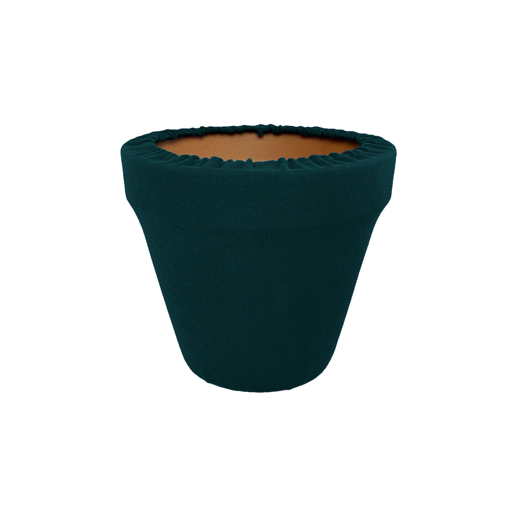 Hunter Green Flower Pot Sleeve 6 in, terra cotta, clay pot cover