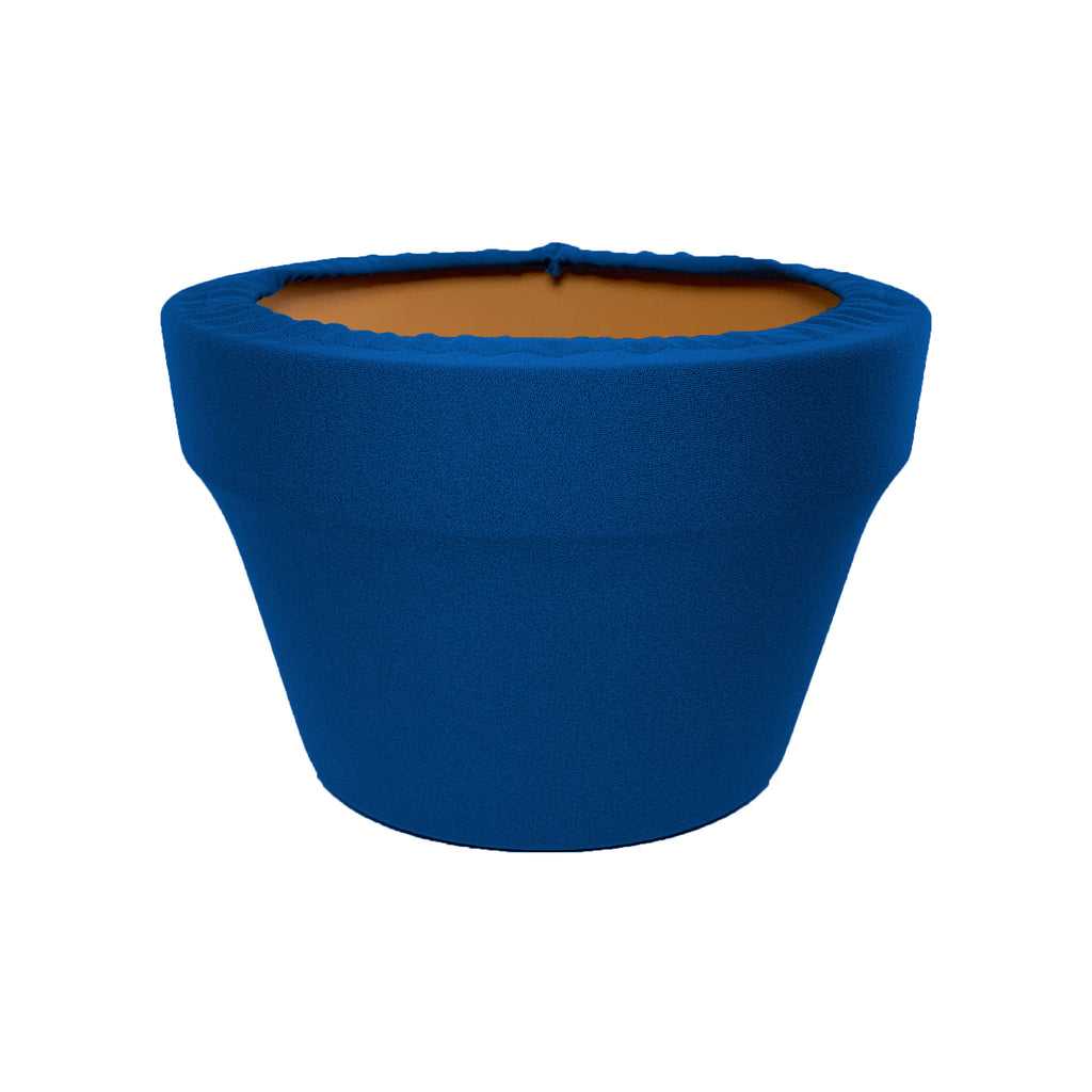 Mykonos Blue Fern Azalea Pot Sleeve 8 in, terra cotta, clay pot cover