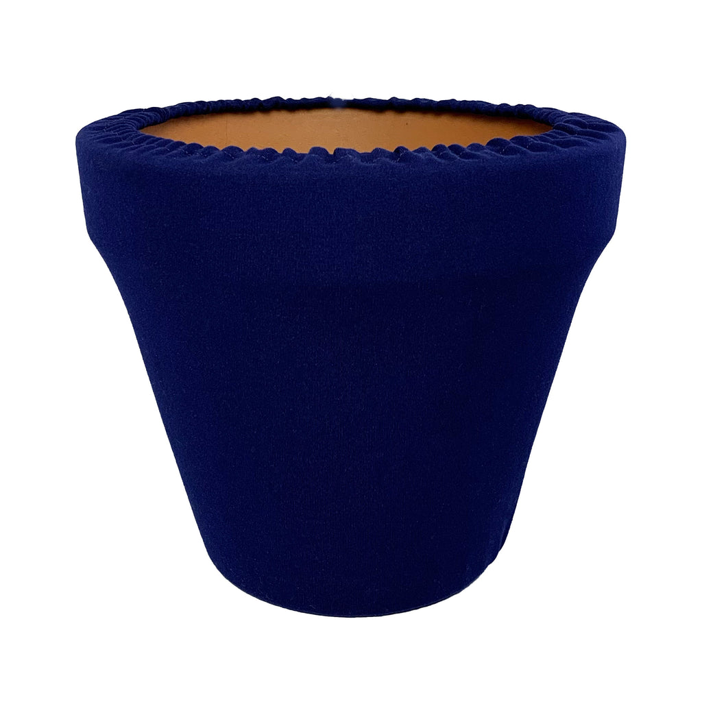 Navy Blue Flower Pot Sleeve 10 in, terra cotta, clay pot cover
