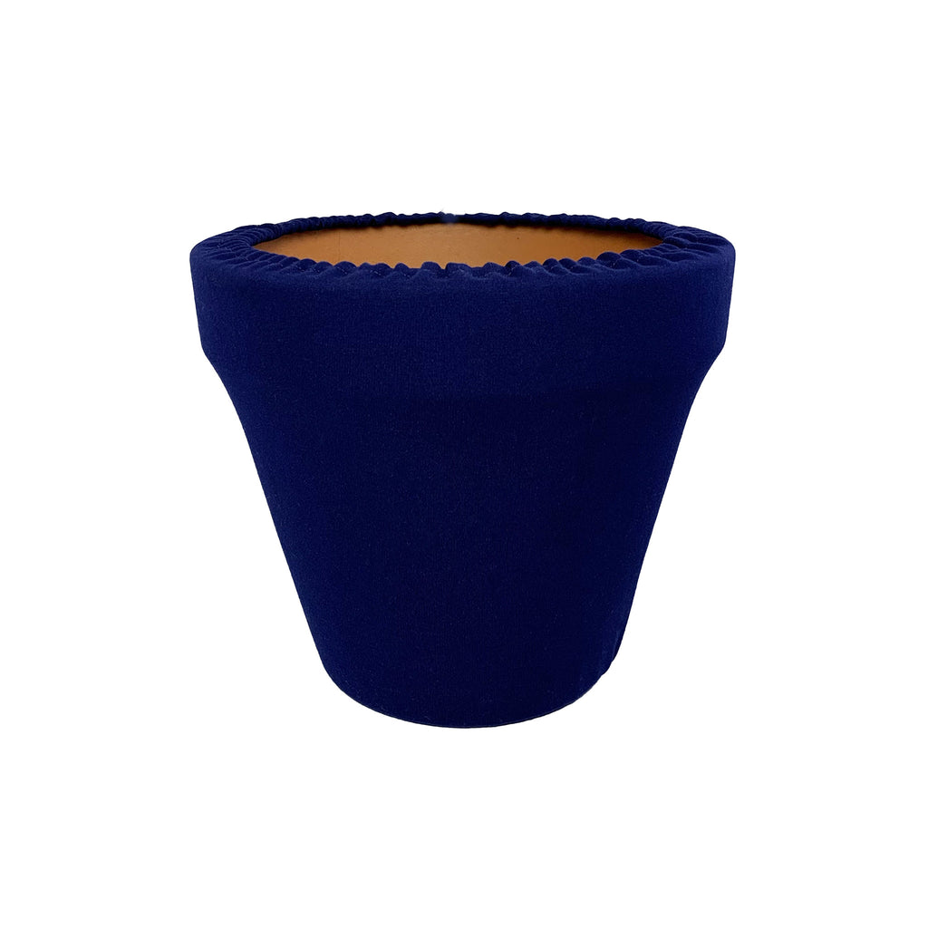 Navy Blue Flower Pot Sleeve 6 in, terra cotta, clay pot cover