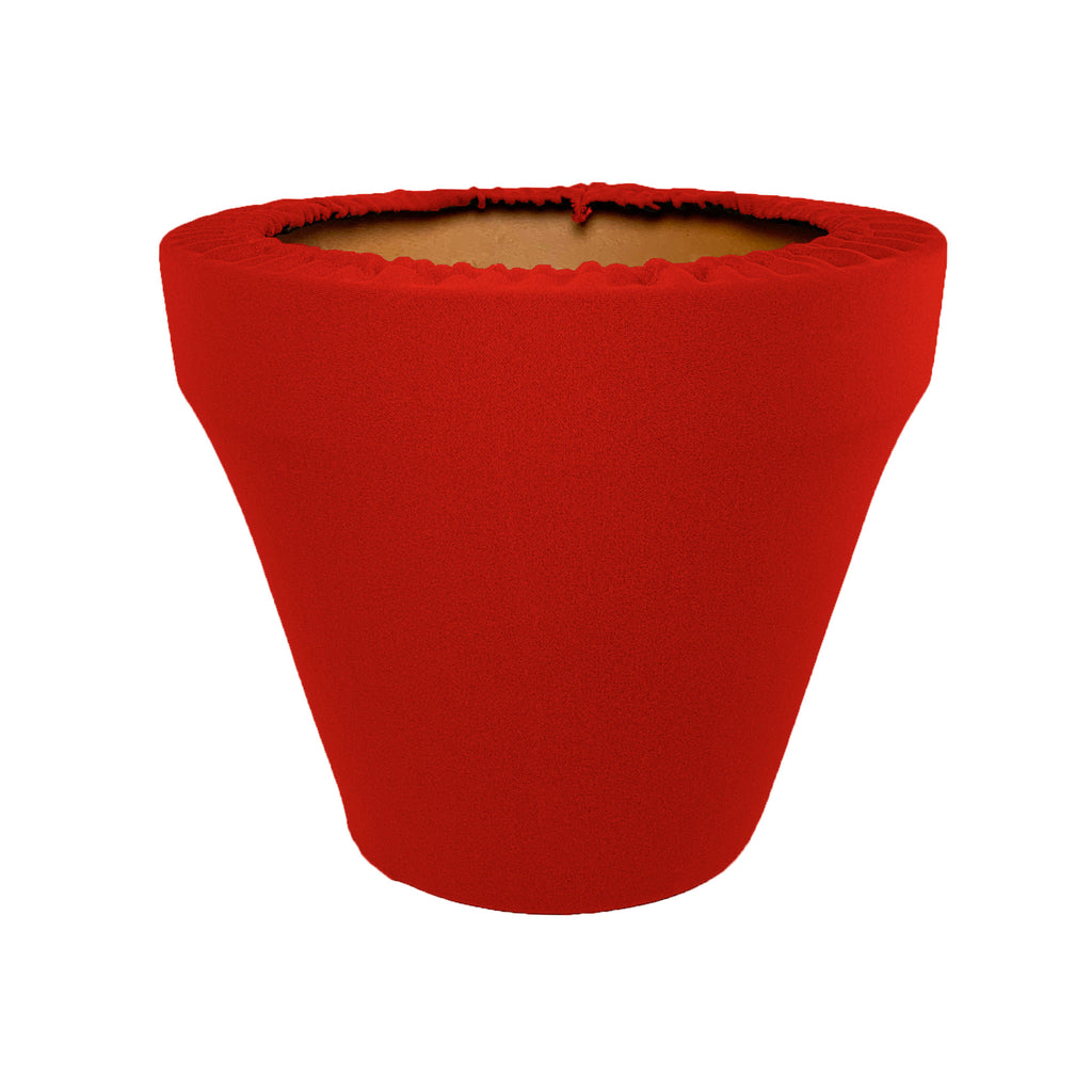 Ruby Red Flower Pot Sleeve 10 in, terra cotta, clay pot cover