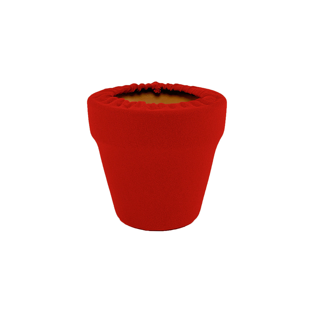 Ruby Red Flower Pot Sleeve 4 in, terra cotta, clay pot cover