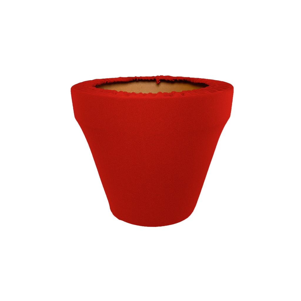 Ruby Red Flower Pot Sleeve 6 in, terra cotta, clay pot cover
