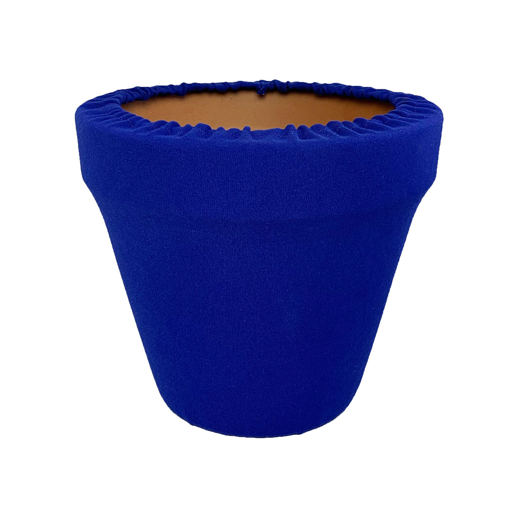 Sodalite Blue Flower Pot Sleeve 10 in, terra cotta, clay pot cover