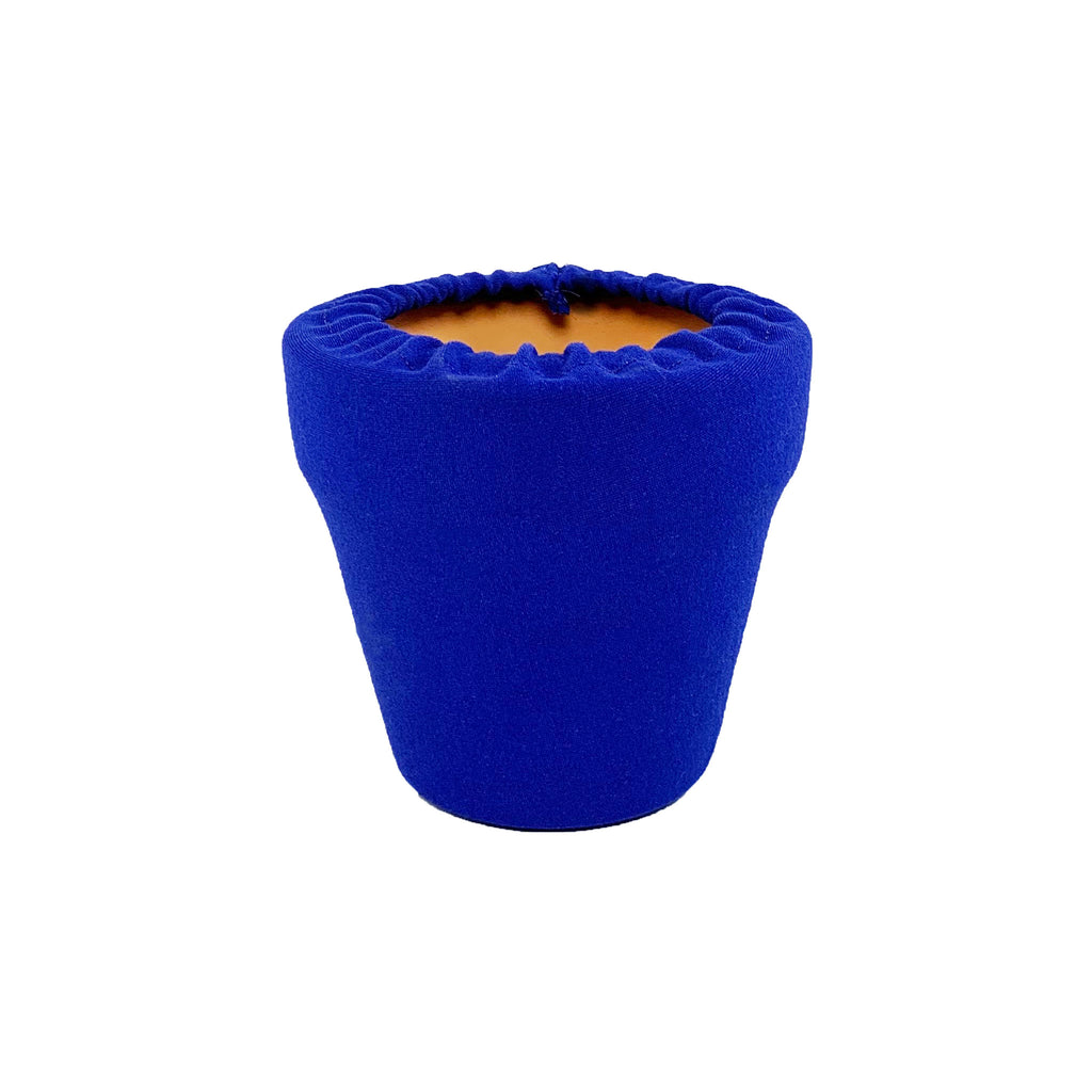 Sodalite Blue Flower Pot Sleeve 4 in, terra cotta, clay pot cover