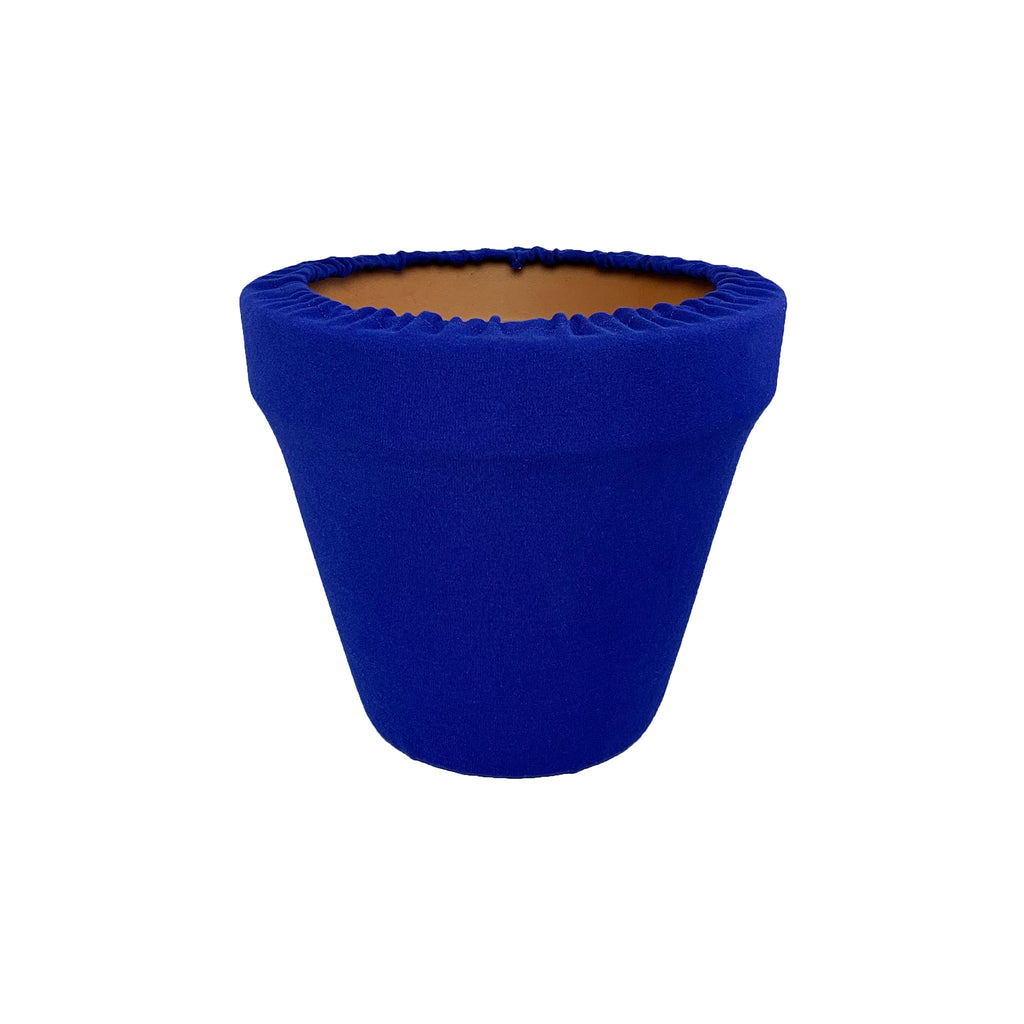 Sodalite Blue Flower Pot Sleeve 6 in, terra cotta, clay pot cover