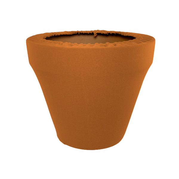 Sugared Almond Flower Pot Sleeve 10 in, terra cotta, clay pot cover
