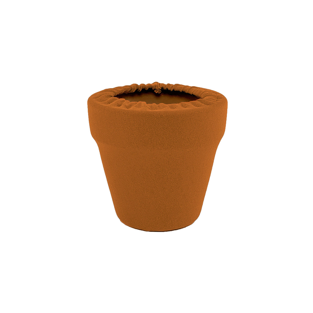 Sugared Almond Flower Pot Sleeve 4 in, terra cotta, clay pot cover