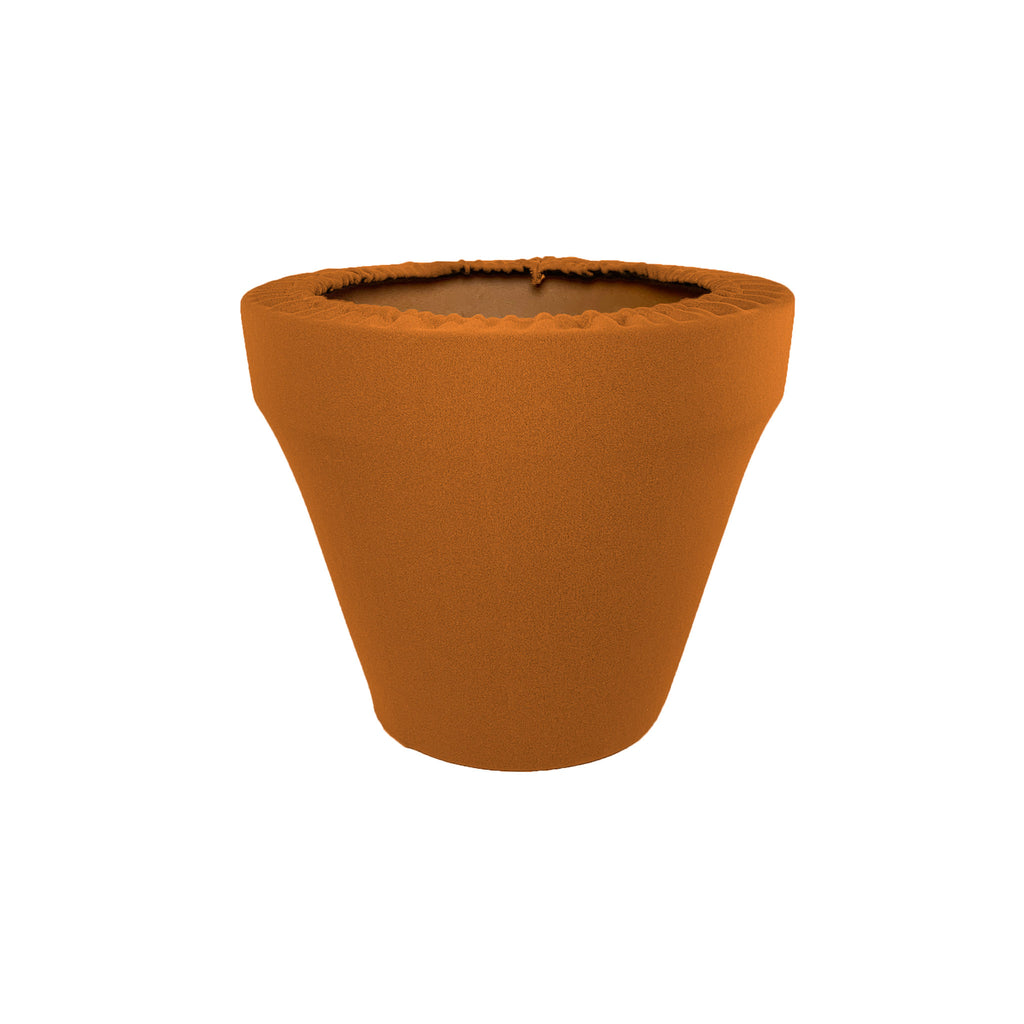 Sugared Almond Flower Pot Sleeve 6 in, terra cotta, clay pot cover