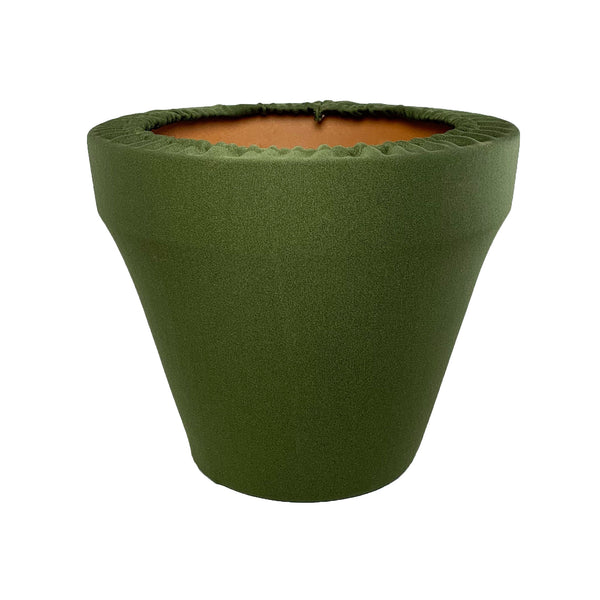 Winter Moss Green Flower Pot Sleeve 10 in, terra cotta, clay pot cover