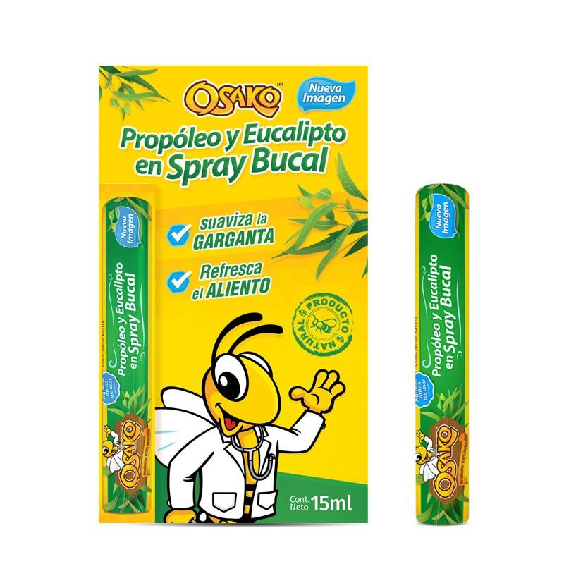 Spray Bucal con Propóleo y Eucalipto 15ml - Productos Osako