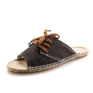 Men's Woven Linen Fisherman Shoes
