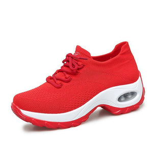 Womens Flying Woven Non-Slip Breathable Comfortable Shoessecond -30% By Codebts30 119163 Red / Us 4