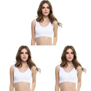 Anti-Sagging Wirefree Breathable Sports Bra(Set Of 3)