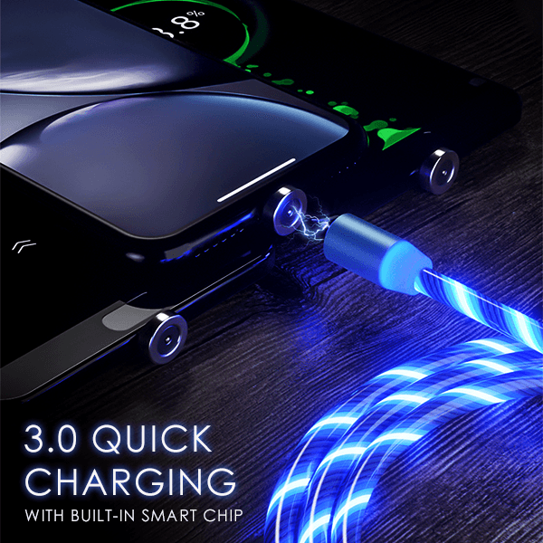 iGlow™ Glowing LED Magnetic 3 in 1 USB Charging Cable