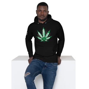 mean hoodie black marijuana leaf weed cannabis pot ganja herb dab