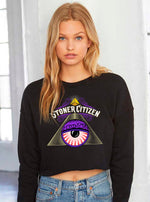 Load image into Gallery viewer, Stoner's Eye Crop Sweatshirt
