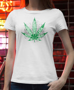 Load image into Gallery viewer, marijuana leaf stoner women tshirt weed ganja cannabis