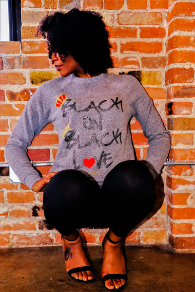 BLACK ON BLACK LOVE tee/sweatshirt