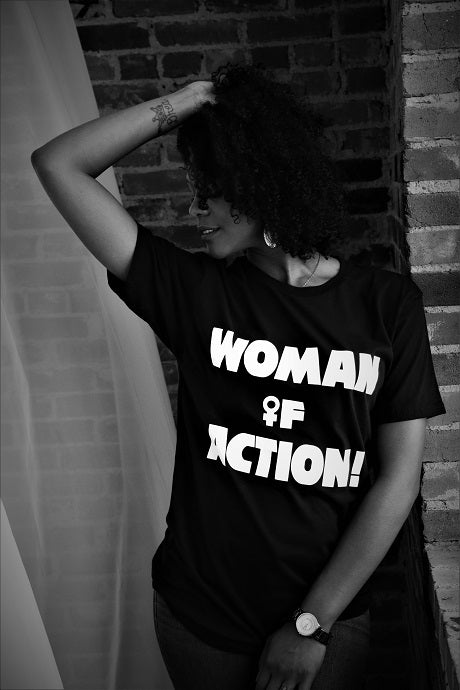 WOMAN OF ACTION! tee