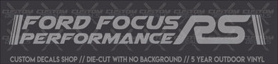 Ford Focus Performance RS Banner (Single Layer)