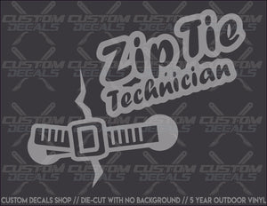 Zip Tie Technician Decal