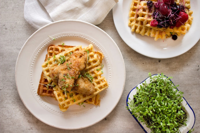 Receta Chicken and Waffles