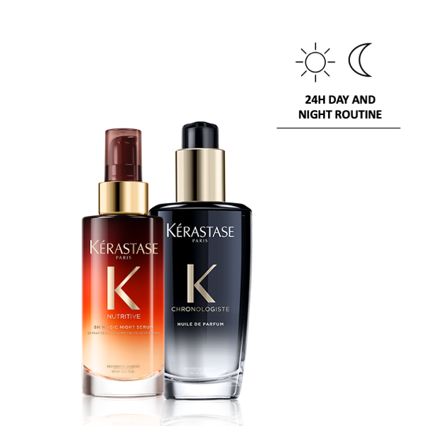 8H Night Serum + Chronologiste Parfum Oil