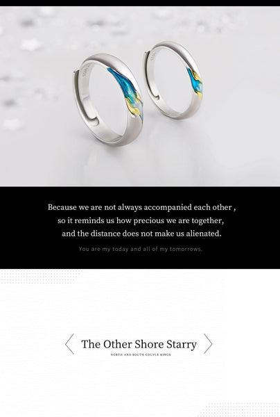 """The Other Shore's Starry"" S925 Silver Sterling Ring"