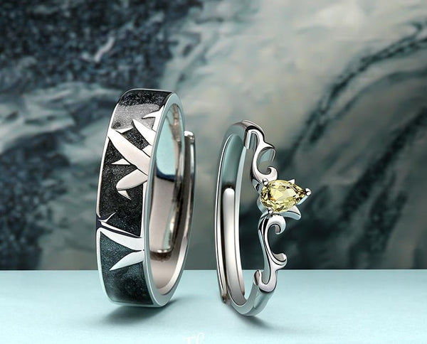 """Polar Flower"" S925 Sterling Silver Ring"