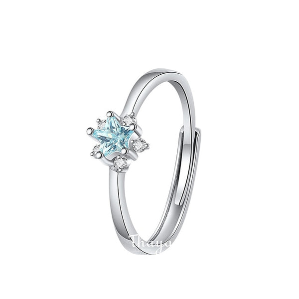 """Snowflake"" S925 Sterling Silver Ring"