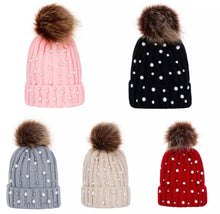 Load image into Gallery viewer, Kids pearl POM POM Hat