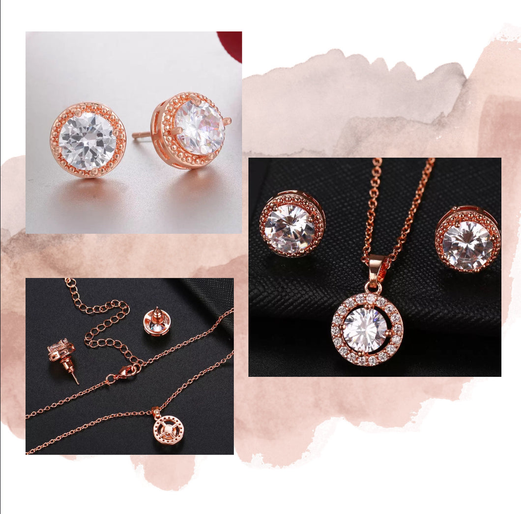 Circlet Earrings & Necklace set