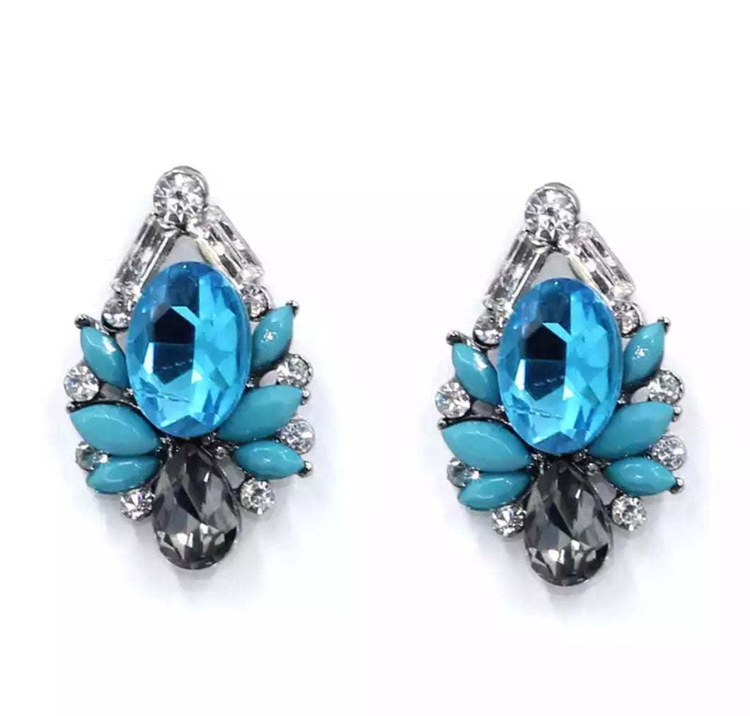 """Lana"" earrings (Blue)"
