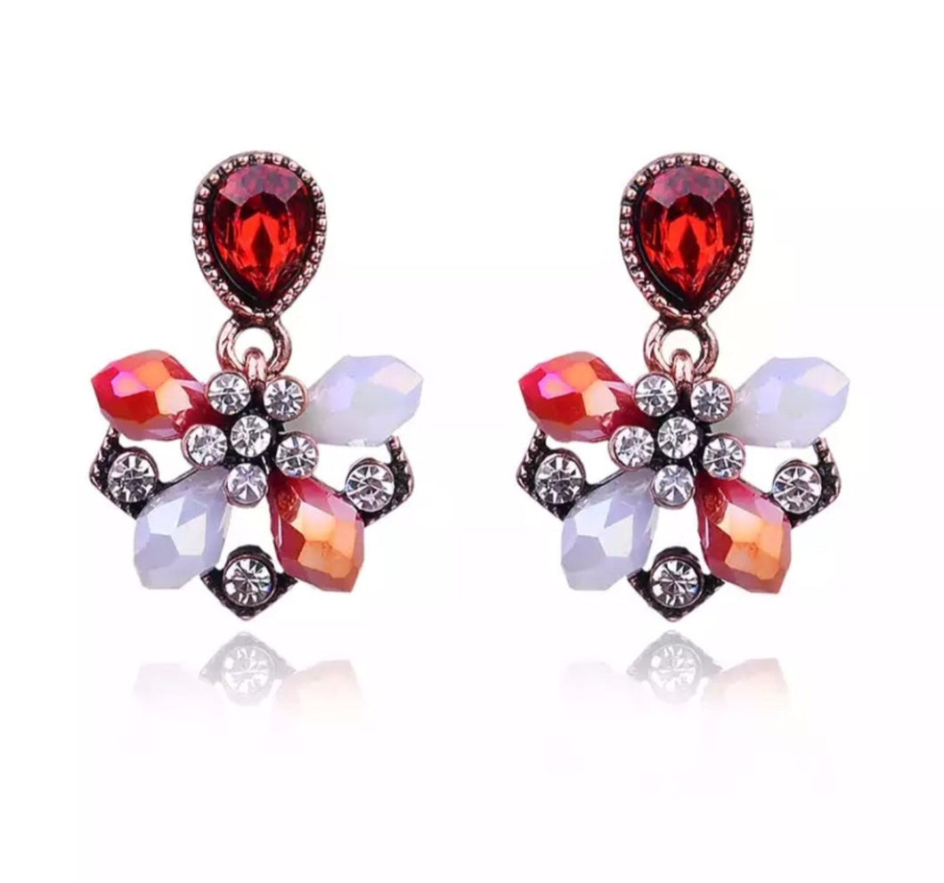 Jovie earrings (Red)