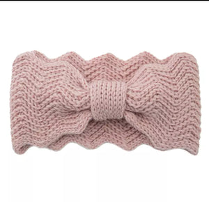 Chunky knitted headband (Grey)