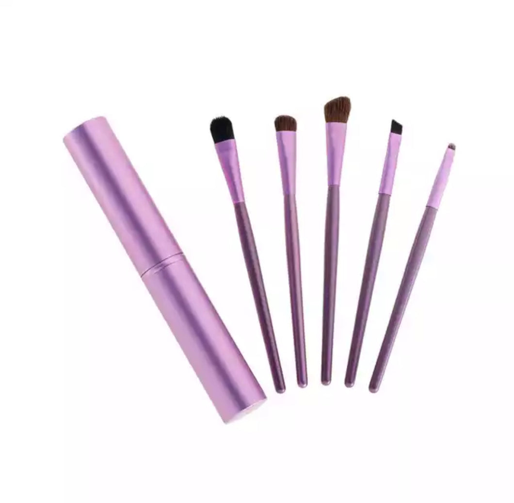 Pocket Make-up brush set (Purple)