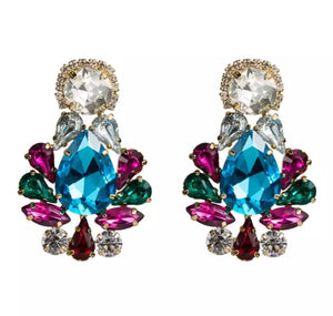 """Treasure"" Jewelled statement earrings"