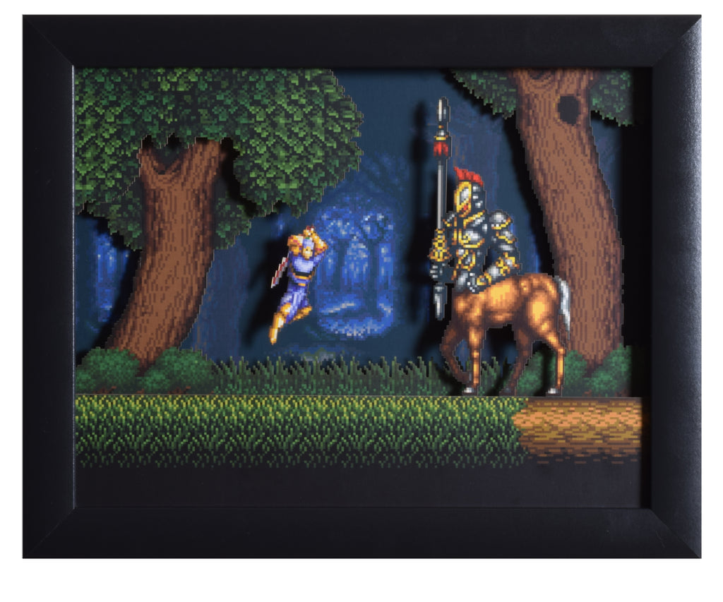 "Act Raiser (SNES) - ""The Centaur"" - 3D Shadow Box"