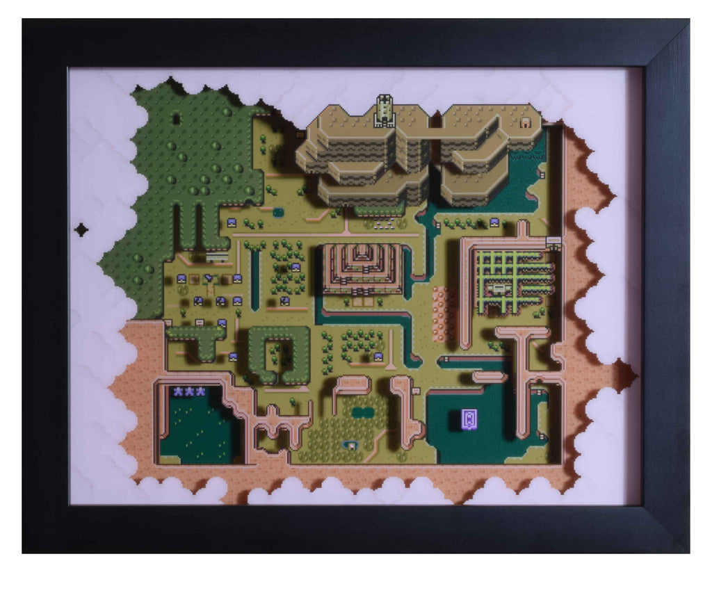 "Legend of Zelda (SNES) - ""The Dark World"" - 3D Shadow Box"