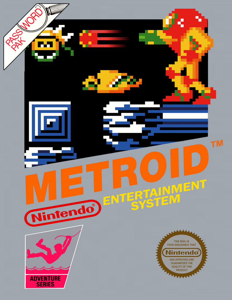 "Metroid (NES) - ""Box Art"" - Acrylic Print - 8.5 x 11"