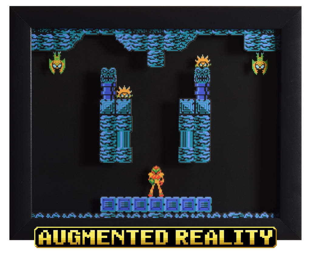 "Metroid (NES) - ""Brinstar"" - 3D AR Shadow Box"