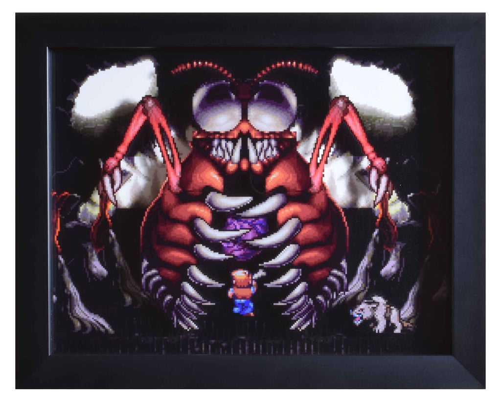 "Secret of Evermore (SNES) - ""Thraxx"" - 3D Shadow Box"