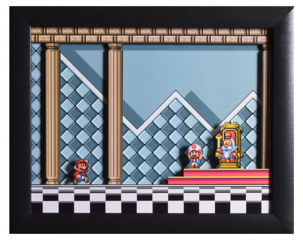"Super Mario All Stars (SNES) - ""Throne Room"" - 3D Shadow Box"